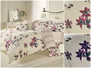 Sakura-Bedding-Range-Reversible-Vertial-Blossom-Trail-Floral-Striped-Reverse-New