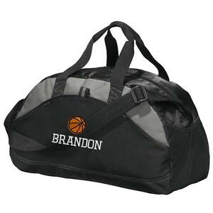 Image Is Loading Basketball Duffel Bag Personalized Gym Embroidered Duffle