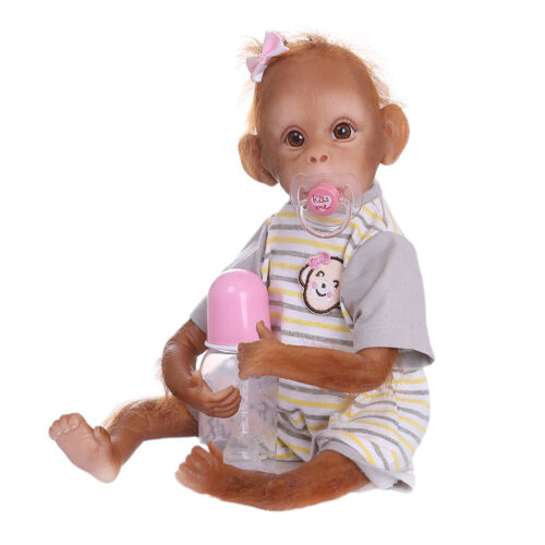So Truly Real 16Inch Reborn Monkey Baby Animal Lifelike Reborn Dolls Toy