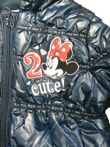 REDUCED OFFICIAL GIRLS MINNIE MOUSE PADDED JACKET WITH HOOD AGES  3 TO 8 YEARS