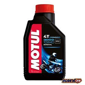 Motul-3000-4t-10w40-MINERAL-ACEITE-DE-MOTOR-Botella-de-1-Litro