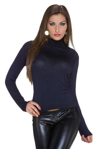 Damen Langarmshirt Shirt Top Longsleeve Einheits-Größe S 34 36 Party Büro Disko