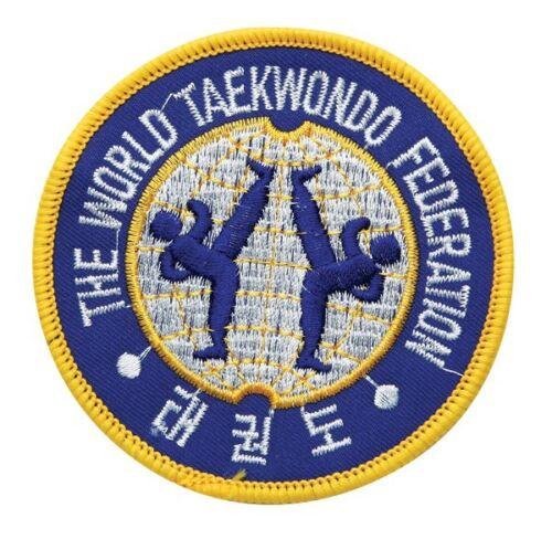 "Patch 3.5/"" Taekwondo Uniform Gi-BLUE,Brand New WTF World Taekwondo Federation"