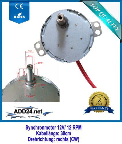 12V 4,1; 2,5;1 u. 15 RPM AC Motor 230V Synchronmotor Pyramidenmotor 12 RPM
