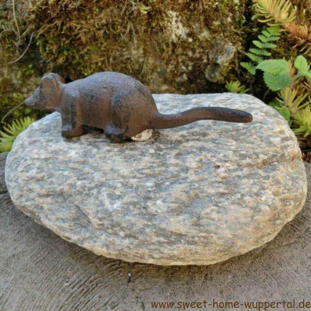Garten Tiere Gusseisen Stein Unikat Gartendeko Dekoartikel Maus Tierfigur Tt153 Ebay