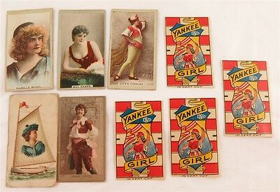 Victorian Actresses Sweet Caporal Kenny Bros Tobacco Trading Cards & Yankee Girl