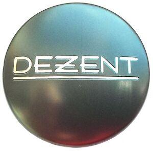 Dezent Center Cap For Alloy Wheels Zt2010 Graphite Gray With Silver