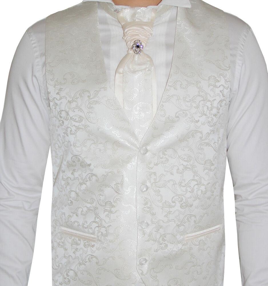 Herren Hochzeitsweste Ivory Ivory Ivory Elfenbein -5 teilig- Designer Weste-Größe S-7XL W03   Der Schatz des Kindes, unser Glück  c2c7c7