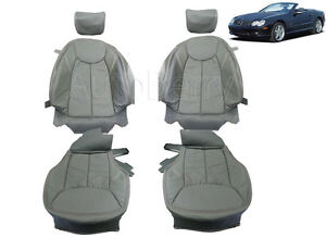 Mercedes W230 SL500 SL550 SL600 Leather replacement seat covers 2003 ...