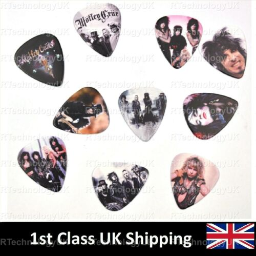 Plectrums Double Sided DELUXE 2019 MOTLEY CRUE FULL COLOUR GUITAR PICKS