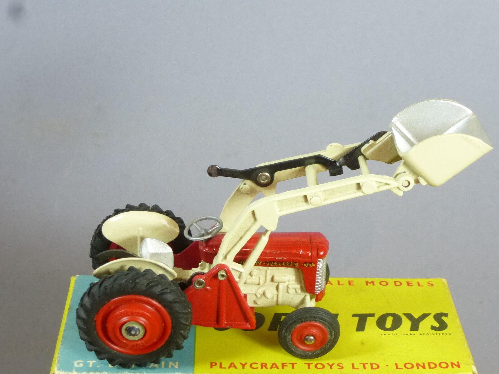 CORGI CORGI CORGI TOYS MODEL No.53 Massey-Ferguson 65 Tracteur avec pelle VN En parfait état, dans sa boîte 6ca866