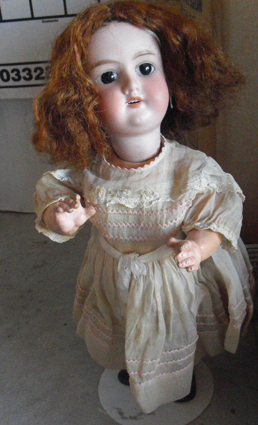 Antique Armand Marseille A5M 390 Bisque Composition Germany Girl Doll 15  Tall