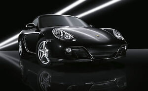 Framed Print Black And White Porsche 911 Carrera Picture Poster