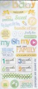 Detalles De Mambi Bienvenido Bebé Brillo Scrapbook Pegatinas Y Frases Ver Título Original