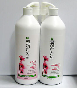 Biolage-ColorLast-Shampoo-amp-Conditioner-plus-Pumps-33-8-oz-Liter-Set-Duo-Matrix