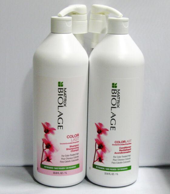 Biolage ColorLast Shampoo & Conditioner plus Pumps 33.8 oz Liter Set Duo Matrix