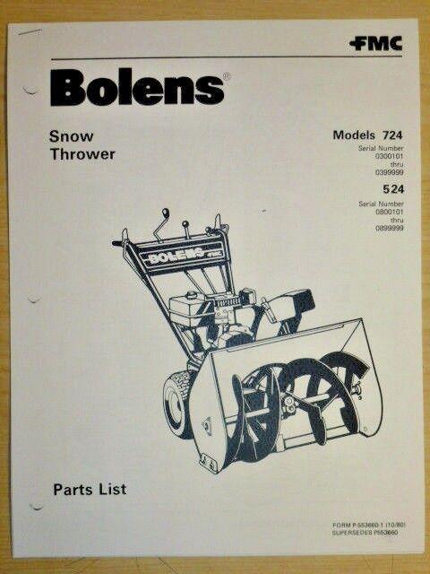 bolens 724\u0026524 snow thrower \