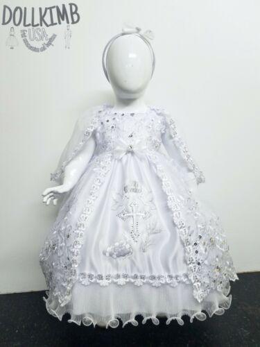 Vestido de bautizo para niÑa Girl/'s embroidered dress for christening Bordado