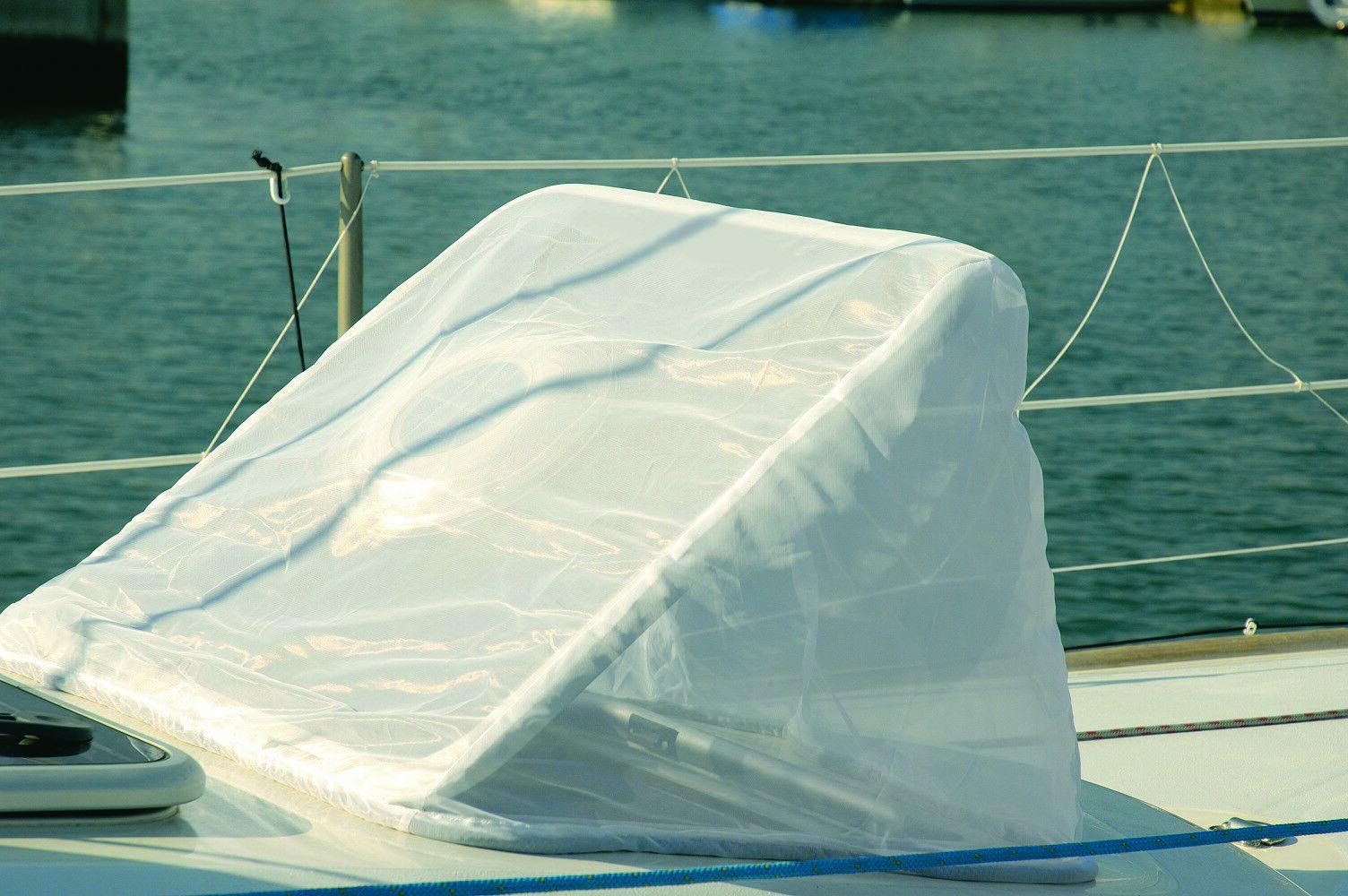 Moskitonetz für Decksluken in Weiß Weiß Weiß - für max Abmessung  54 x 54 064b01
