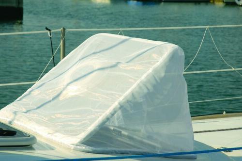 Moskitonetz für Decksluken in Weiß für max Abmessung 54 x 54
