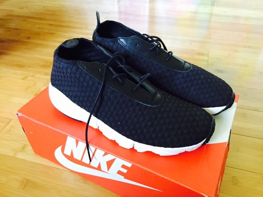 Nike Air Footscape Woven Chukka sz replacement 10 Woven Black DS replacement sz Box 98c0c3