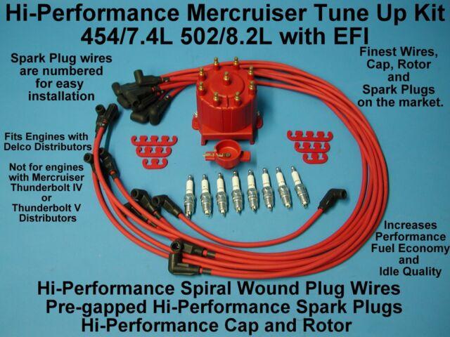Tune-Up Kit Cap Rotor Sensor Wires Mercruiser Thunderbolt Big Block ...