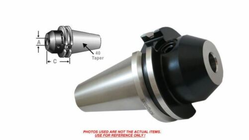 """C40-12EM200-K CAT-40 End Mill Tool Holder 1-1//4/"""" x 2/"""" Projection 15,000 Rpm"""