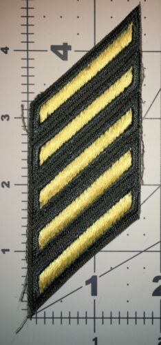US ARMY CLASS A HASH MARKS MALE SERVICE STRIPES GOLD EMBROIDERED ON GREN NEW B5