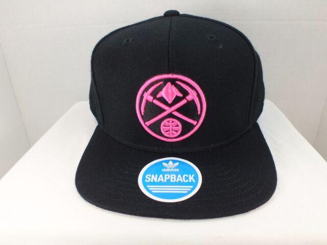 Denver Nuggets NBA Retro Vintage Snapback Black Neon Pink Cap Hat New By  Adidas cfa11dac996b