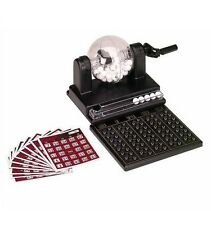 New Mini Bingo Game Set With Rotary Ball Drawer 75 Numbered Balls 10 Cards Lotto