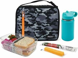 Packit Freezable Lunch Box Bag W Built In Ice Packs New W