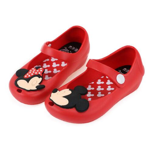 Children Kids Girls Holiday Summer Minnie Flower Flat Shoes Sandals Size 4.5-7.5