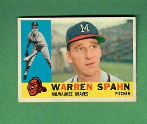 1960-TOPPS-445-WARREN-SPAHN-HALL-OF-FAME-MILWAUKEE-BRAVES-EX-CENTERED