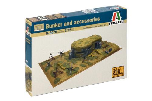 Neu Italeri 6070-1//72 WWII Bunker Mit Zubehörteilen