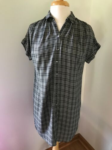 Madewell Central Shirtdress in Thompson Plaid XXS