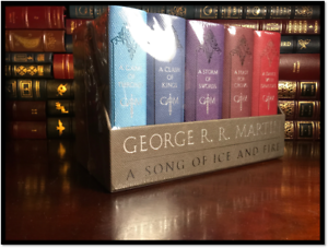 A-Game-of-Thrones-by-George-R-R-Martin-Sealed-Leather-Cloth-5-Volume-Box-Set