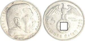 3. Imperio 5 Marco Hindenburg 1939G Mejor Mzz. (3) EBC (43615)