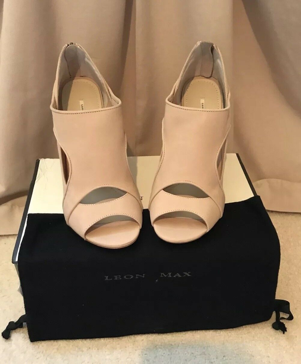 Leon Max Leather Ankle Wrap Smitten Heels Brand New In In In Box Rrp Größe 7.5 fcaf9c