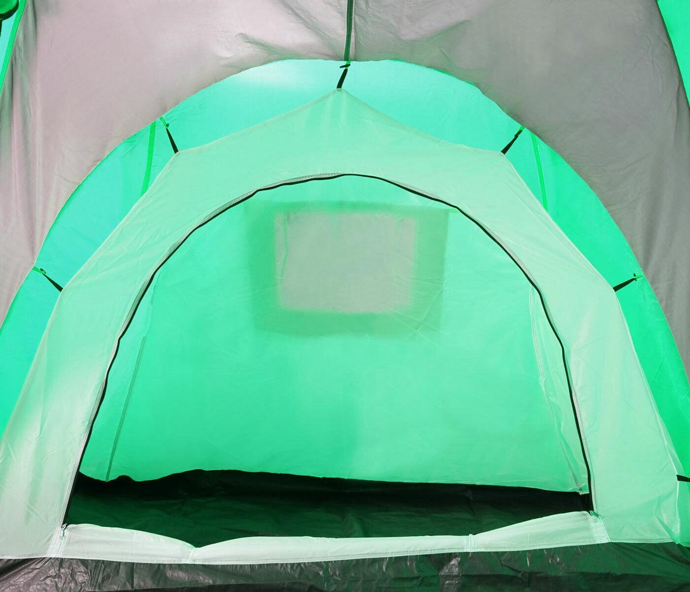 Campingzelt Laagri, 6-Mann Kuppelzelt Igluzelt Festival-Zelt, 6 Personen grün grün grün 6ea855
