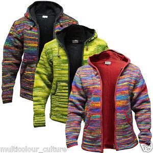 Brand-New-Men-039-s-Tie-Dye-Fleece-Lined-Hippy-Jumper-Festival-Winter-Hippie-Jacket