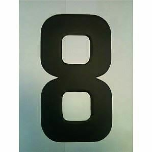 """9"""" Standard Style Race Number No.8 in Black Sold Each"""