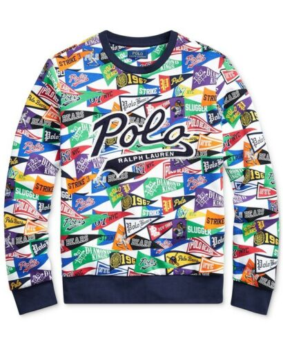 Ralph Lauren Polo Limited Edition Stadium Baseball Bears Pennant Sweatshirt New