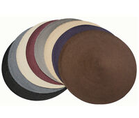 """Fine Woven Round Placemats, 15"""" Diameter, Table Dinner Place Mats (Set of 4)"""