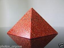 Orgone 1st Root Base Chakra Pyramid Fire Opal Ruby Jasper Red Calcite Bloodstone
