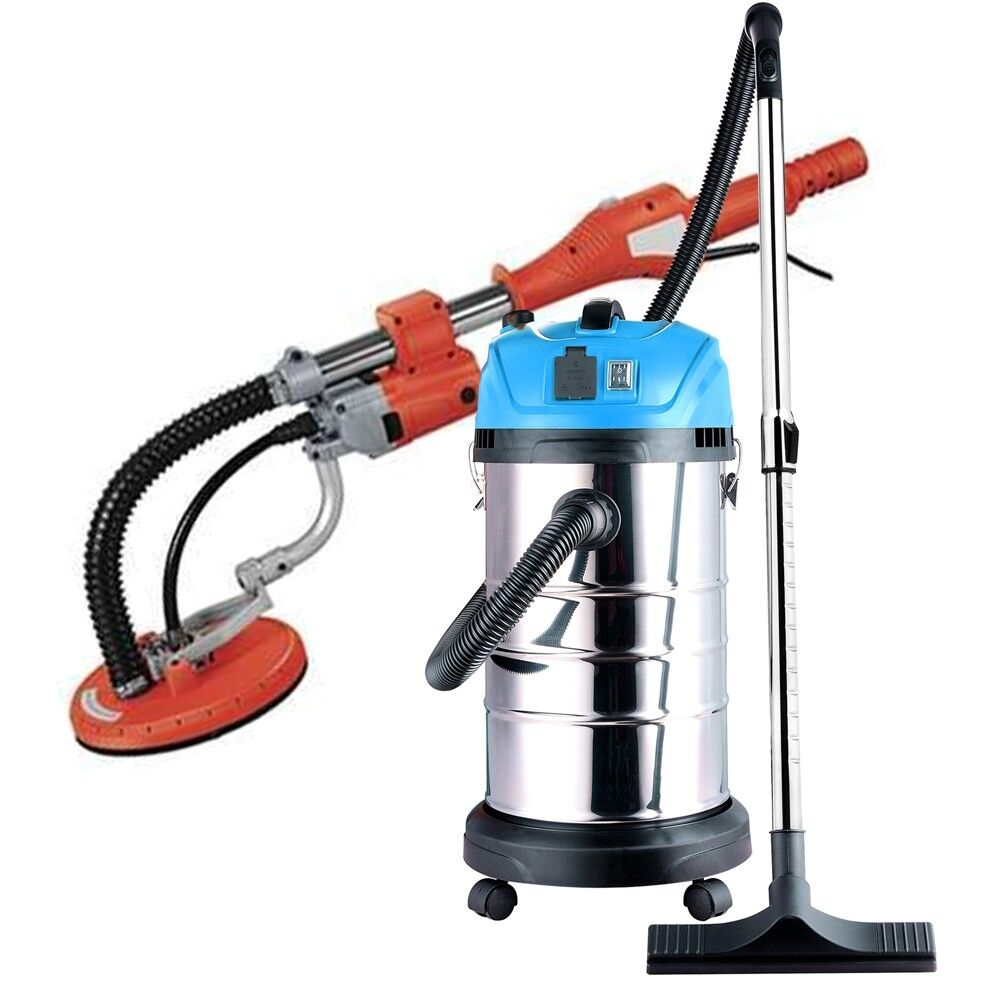 ALEKO Combo Kit Drywall 600W Sander 690E with Wet Dry Vacuum Cleaner