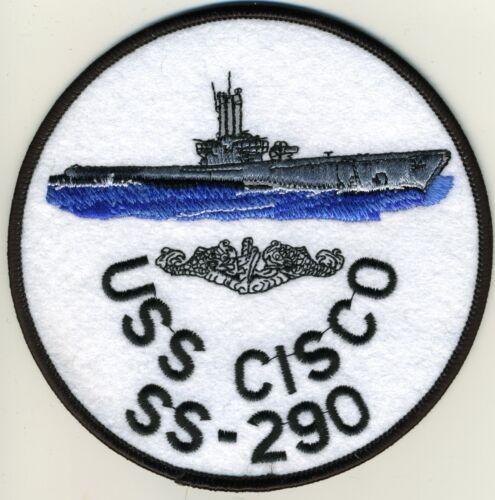USS Cisco SS 290 Sub on sea BC Patch Cat No C5707