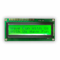 16X2 1602 Character LCD Module Black on Green Backlight HD44780