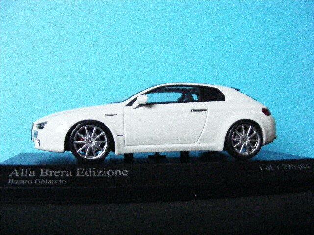 Alfa Romeo Brera in Bianco Ghiaccio MINICHAMPS 1/43 ONLY 1296 PCS WORLDWIDE NLA