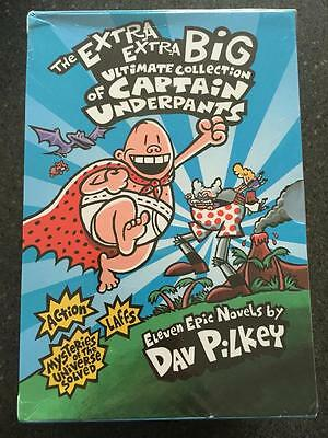 The Extra Extra Big Ultimate Collection of Captain Underpants Box Set 11 Books