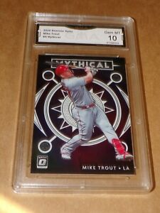2020 Donruss Optic Mythical Mike Trout #4 GMA Graded Gem Mint 10